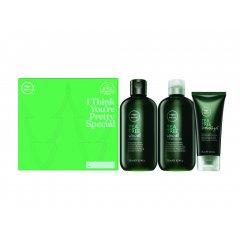 Paul Mitchell Tea Tree Invigorating Trio - osvěžující šampon, 300ml + osvěžující kondicionér, 300ml + gel se silnou fixací, 75ml