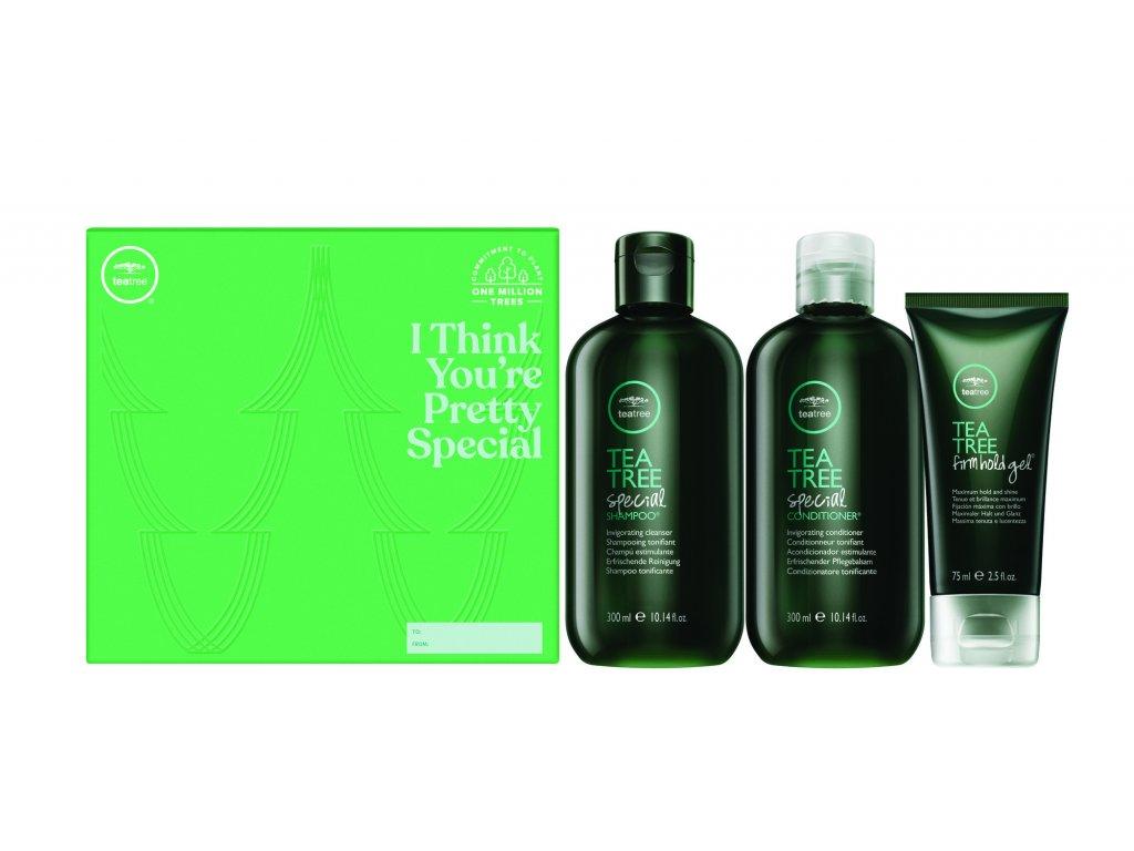 Paul Mitchell Tea Tree Invigorating Trio - osviežujúci šampón, 300ml + osviežujúci kondicionér, 300ml + gél so silnou fixáciou, 75ml