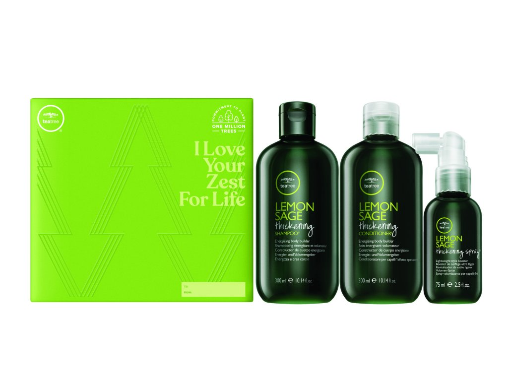 Paul Mitchell Tea Tree Volumizing Trio - objemový šampón, 300ml + objemový kondicionér, 300ml + bezoplachový objemový kondicionér v spreji, 75ml