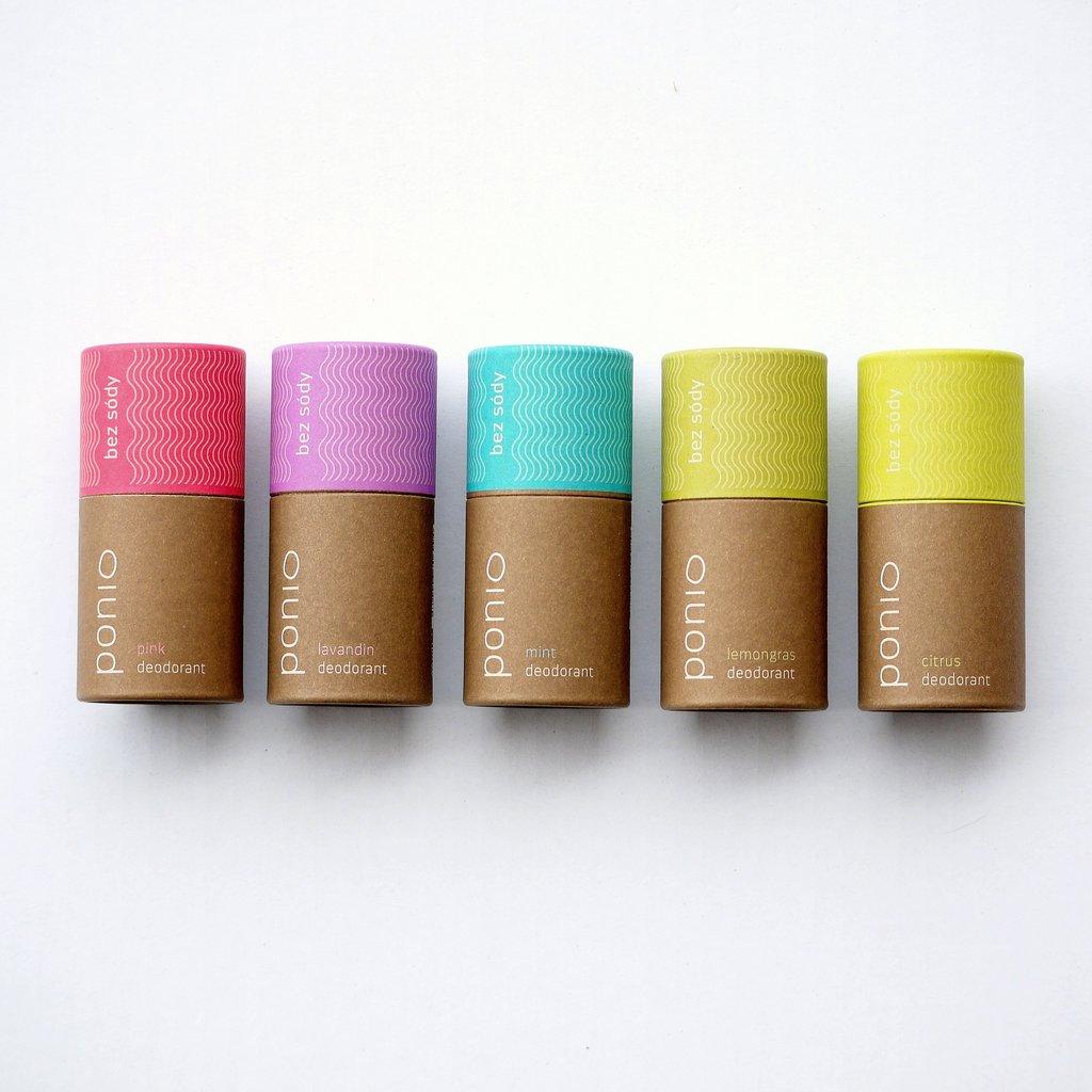 Ponio prírodný deodorant - sodafree, 60 g