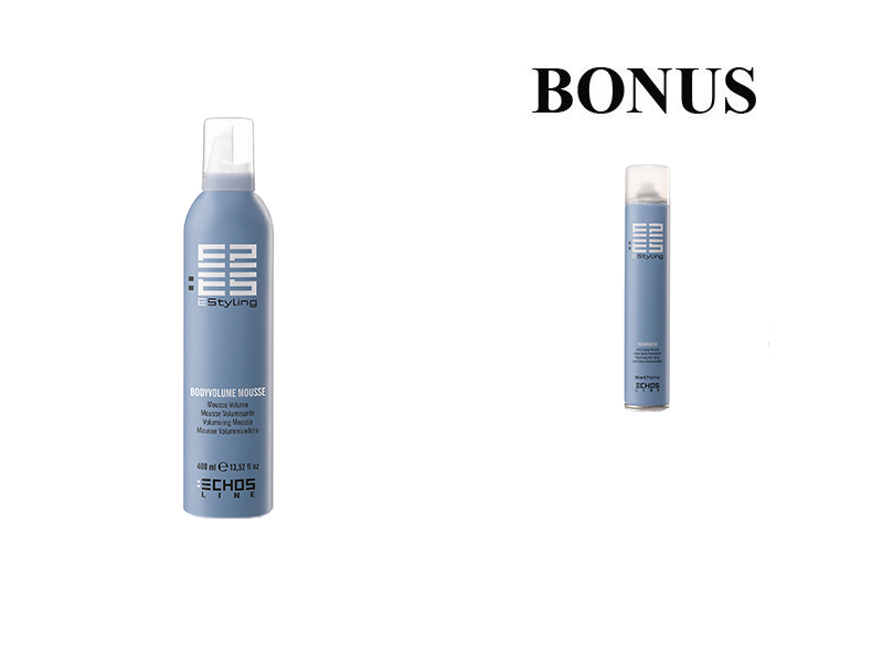 AKCIA: Echosline Body Volume Mousse - objemová pena, 400 ml + Echosline Volumaster - lak na vlasy, 500 ml