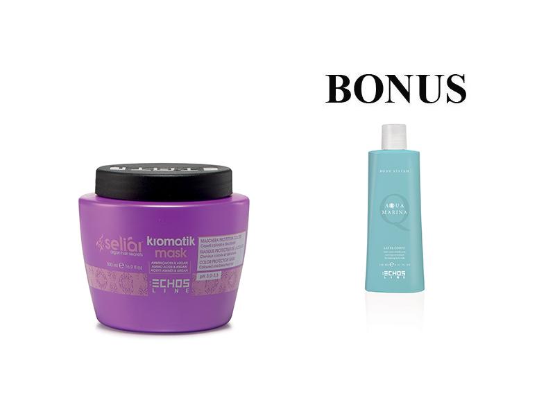 AKCE: Echosline Seliár KROMATIK - ochranná maska pro barvené a odbarvované vlasy, 500 ml + Aqua Marina - tělové mléko, 250 ml