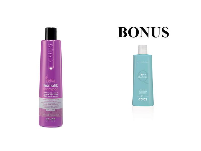 AKCE: Echosline Seliár KROMATIK - ochranný šampon pro barvené a odbarvované vlasy, 350 ml + Aqua Marina - tělové mléko, 250 ml