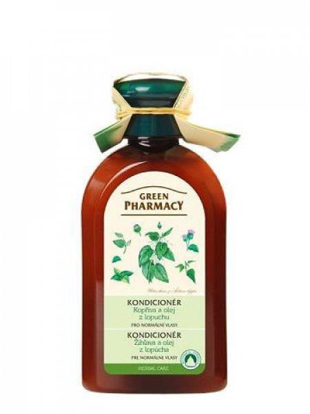 (EXP: 12/2020) Green Pharmacy Kopřiva a olej z kořenů lopuchu - kondicionér pro normální vlasy, 300 ml