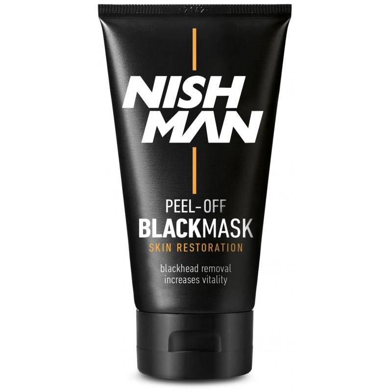 Nishman Black Mask - čierna maska na pleť s aktívnym bambusovým uhlím, 150 ml