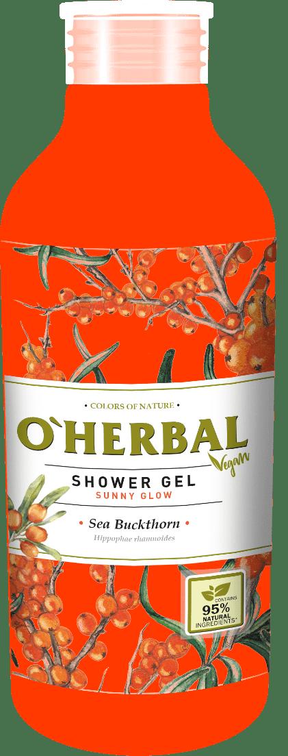 O´HERBAL Vegan Shower Gel Sunny Glow - sprchový gél slnečná žiara s rakytníkom, 400 ml