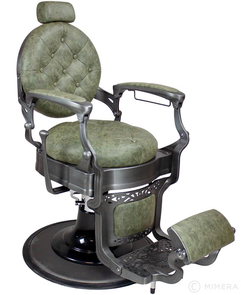 Retro Barber křeslo MONET - semišově zelené