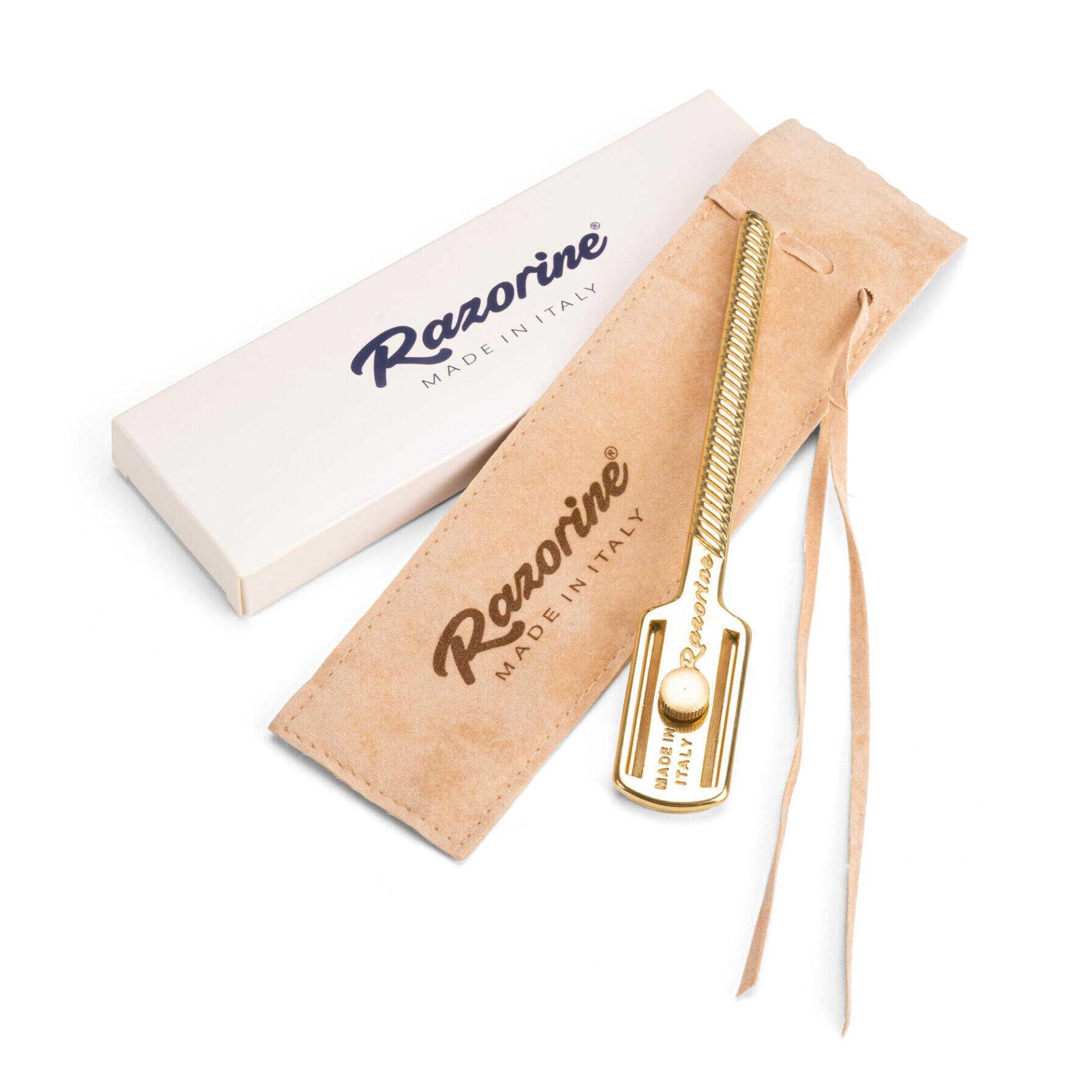 Razorine  - obojstranný holiaci strojček shavetta, celá čepeľ + DERBY Professional - náhradné žiletky, 10 ks