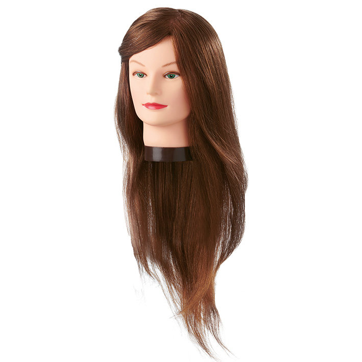 Eurostil - cvičná hlava Daisy 06645, 100% prírodné ľudské vlasy, 55-60 cm
