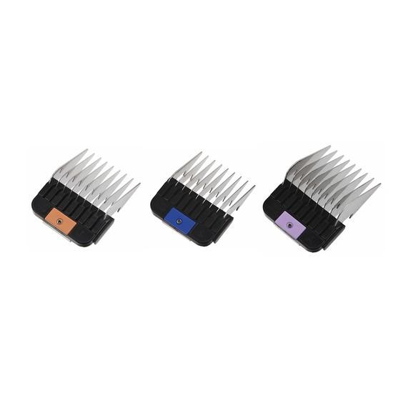 Wahl Moser - univerzálne prídavné hrebeňe pre strojčeky s kovovými zubami, 3 ks