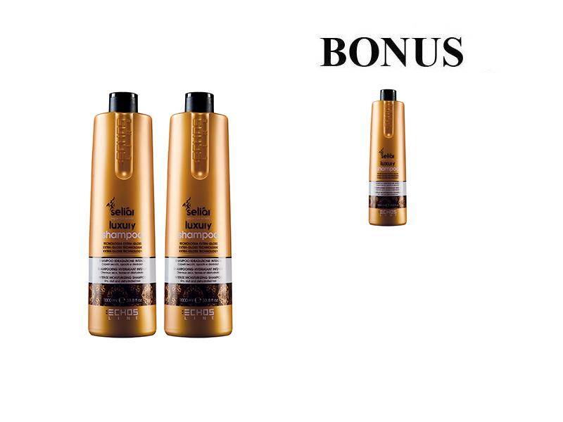 AKCIA: 2+1 Echosline Seliár Luxury - šampón pre intenzívnu hydratáciu, 1000 ml
