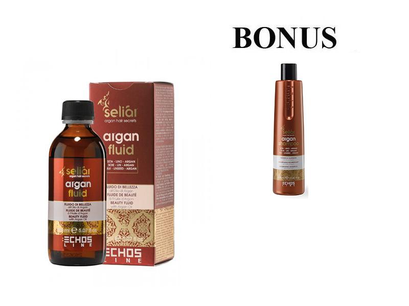 AKCIA: Echosline seliár argan fluid - fluid s argánovým olejom, 150 ml + Echosline seliár argan shampoo - výživný šampón, 350 ml