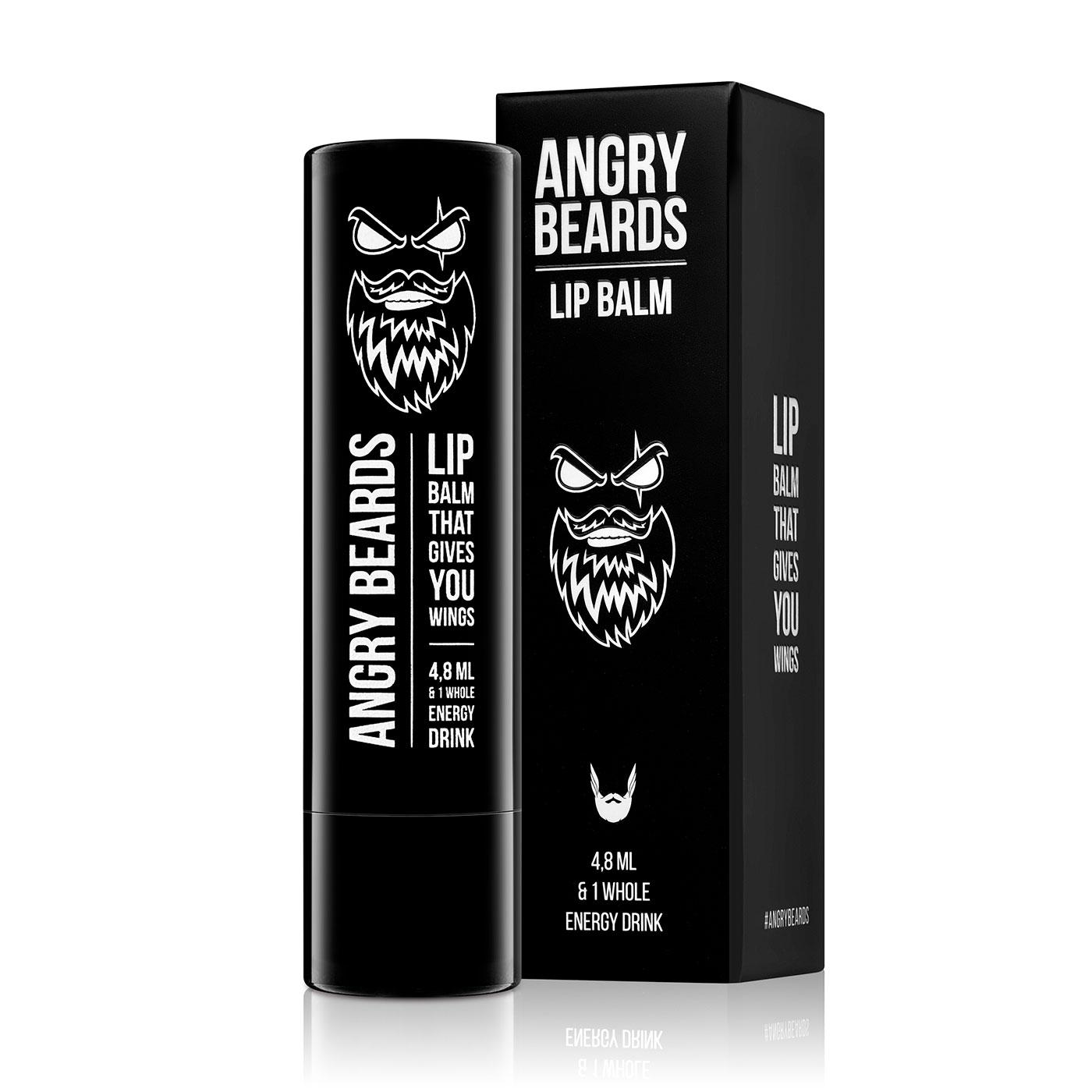 Angry Beards Lip Balm - Energizujúci balzám na pery, 4 ml