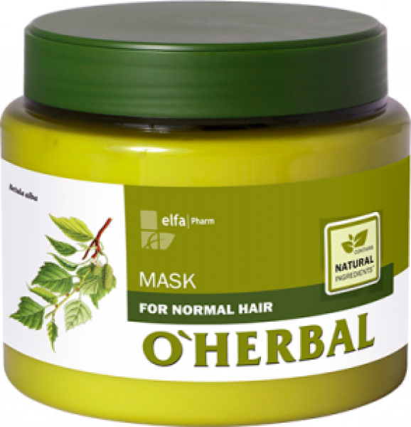 ​(EXP: 02/2021) O'HERBAL For Normal hair - maska pro každodenní péči, 500 ml