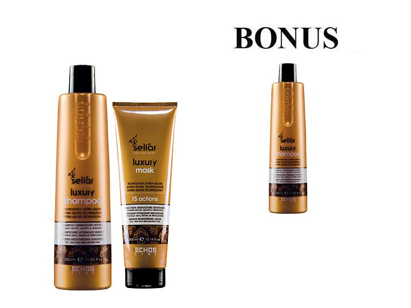 AKCIA: Echosline Seliár Luxury - šampón, 350 ml a Echosline Seliár Luxury - maska, 300 ml + Echosline Seliár Luxury - šampón, 350 ml