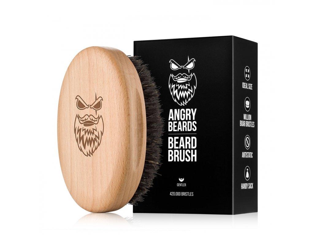 Angry Beards - Gentler - dřevěný kartáč na vousy