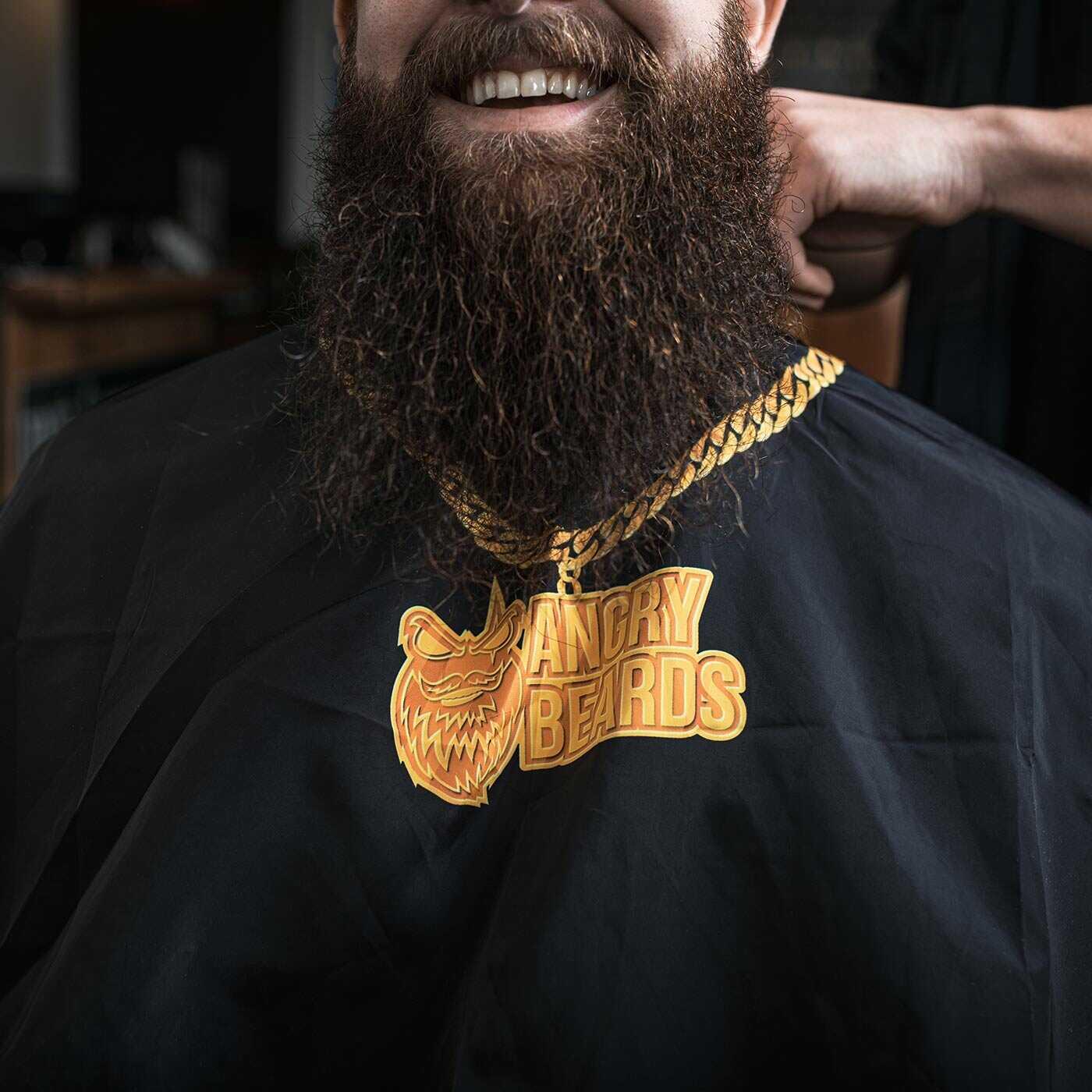 Angry Beards - holičská pláštěnka