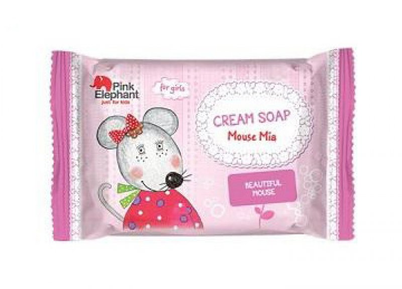 Pink Elephant Myška Mia - krémové mýdlo pro dívky, 90 g DÁREK