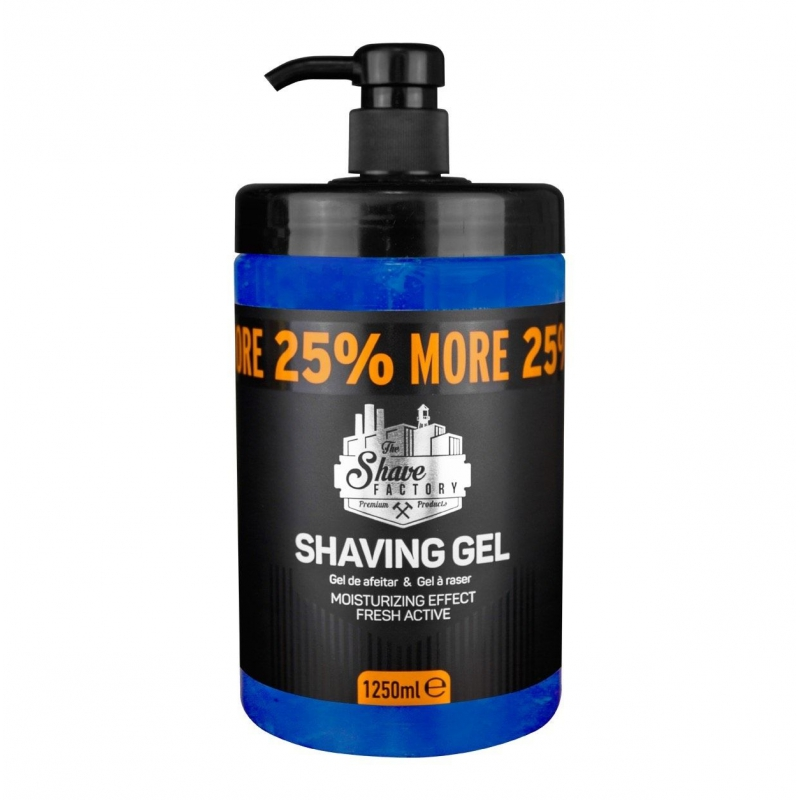 The Shave Factory Shaving Gel - gel na holení, 1250 ml