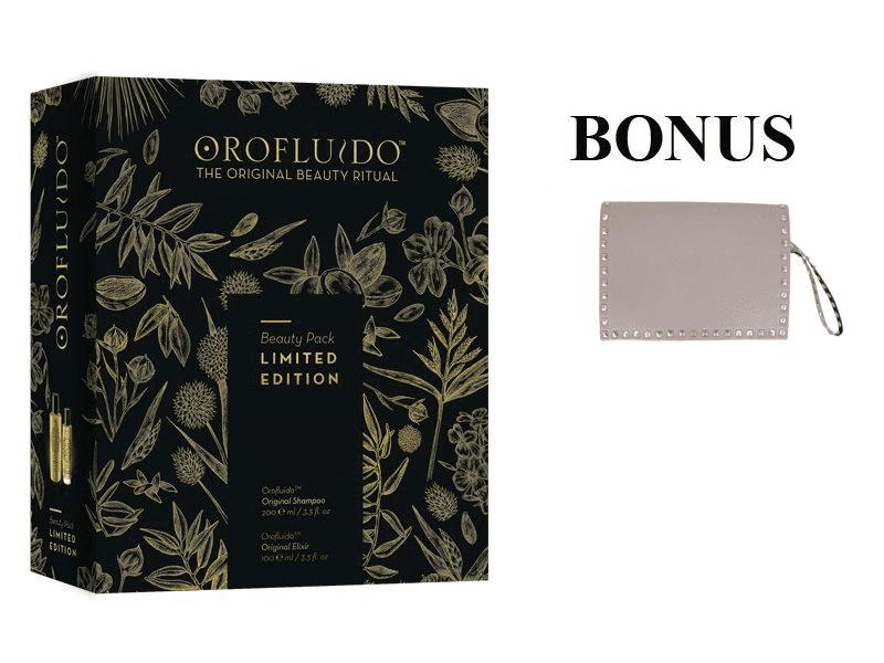 Balíček: Revlon Orofluido sada - originál elixír, 100 ml + šampón 200 ml + Rock Star kabelka