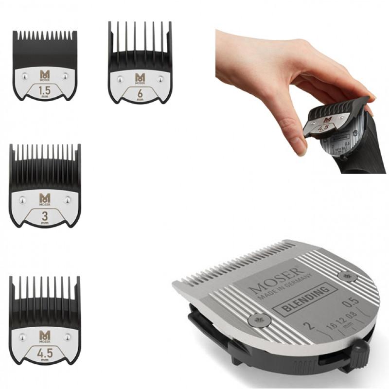 Moser Chrom2Style 1877-0052 Blending Edition - profesionální akumulátorový strojek na vlasy pro fade účesy + Gembird - stlačený vzduch, 400 ml