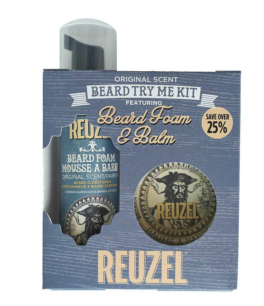 Reuzel Beard Try Me Kit Beard Foam and balm - beard foam, 70 ml + sada beard balm, 35 g