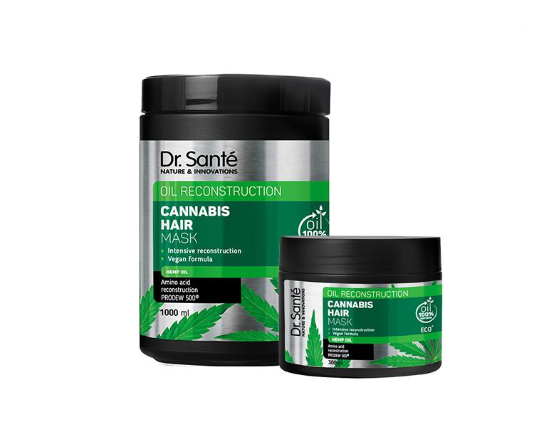 Dr. Santé Cannabis Hair Mask - maska na slabé a poškodené vlasy s konopným olejom