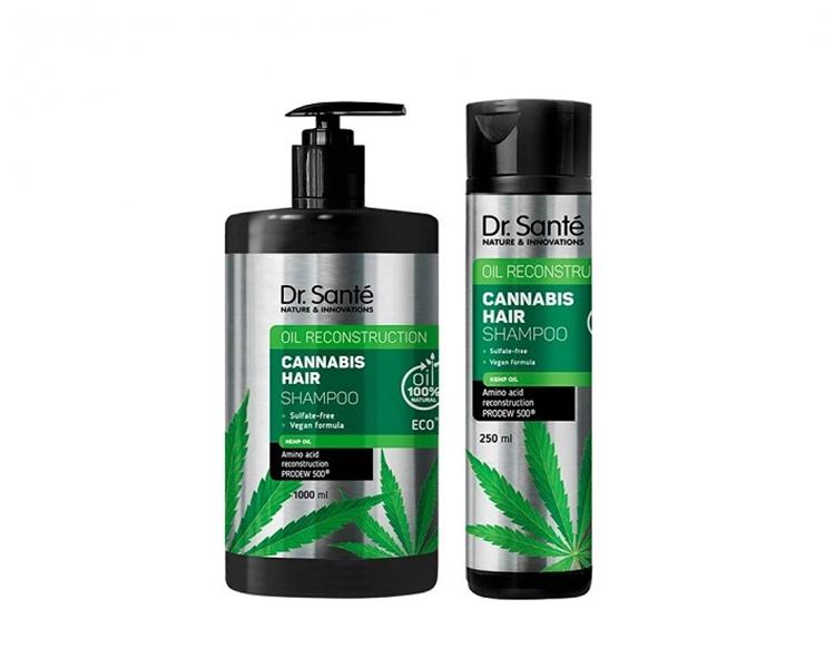 Dr. Santé Cannabis Hair Shampoo - šampón na slabé a poškodené vlasy s konopným olejom