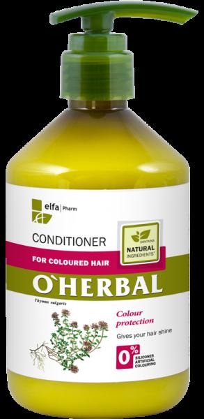 (EXP: 06/2021) O´HERBAL For Coloured hair - kondicionér na farbené vlasy, 500 ml