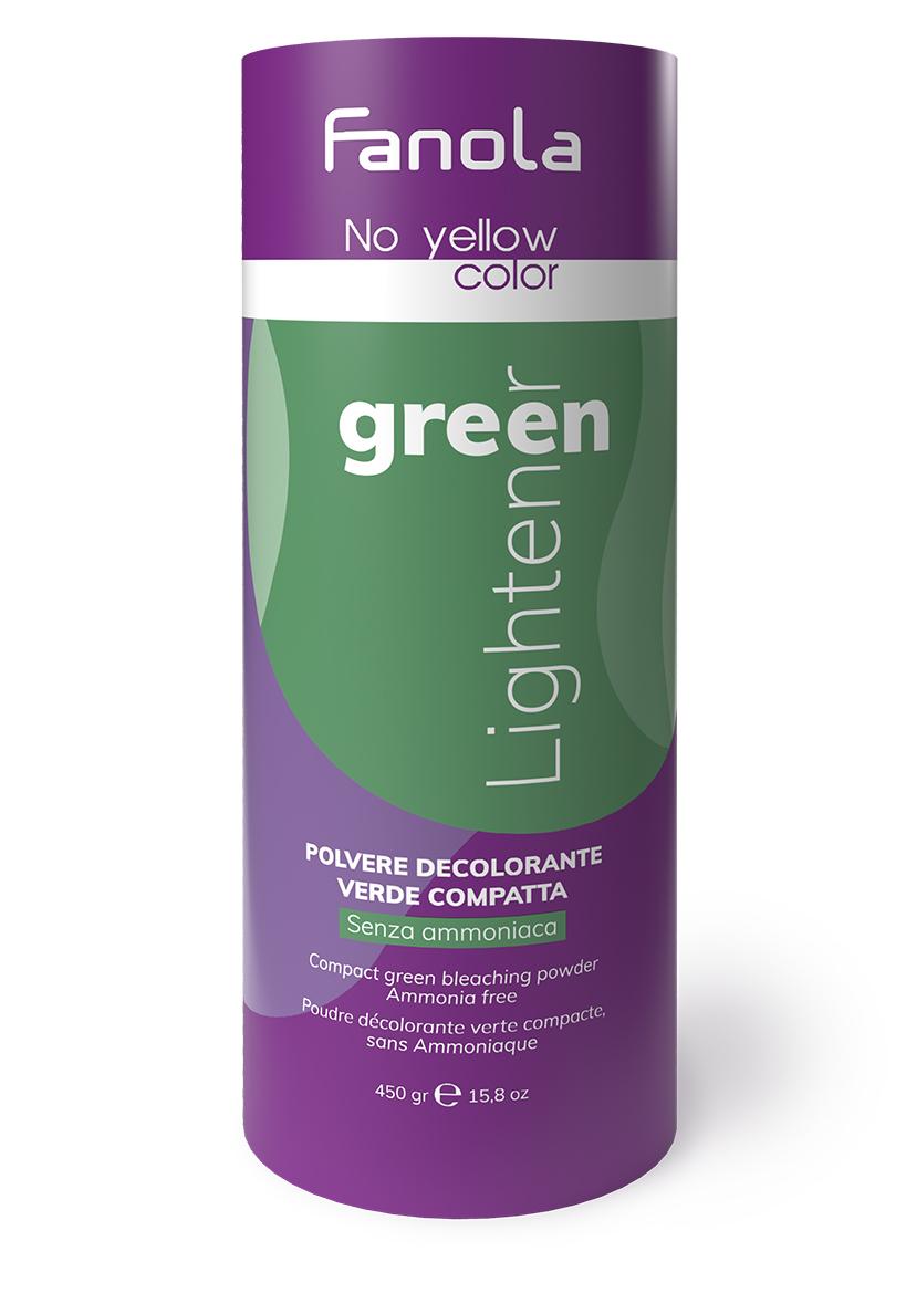 Fanola No Yellow Green - zelený odfarbovací prášok, 450 g