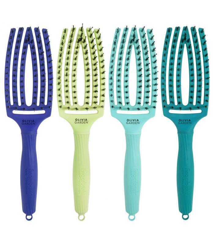 Olivia Garden Fingerbrush Brush Tropical Edition - kartáče na foukání vlasů v limitované edici