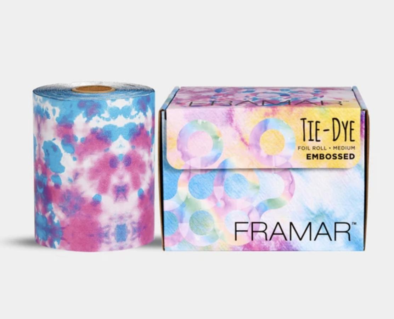 Framar R-EMB-MTD Tie Dye Embossed Medium - farebný alobal v limitovanej edícií s textúrou, 98m