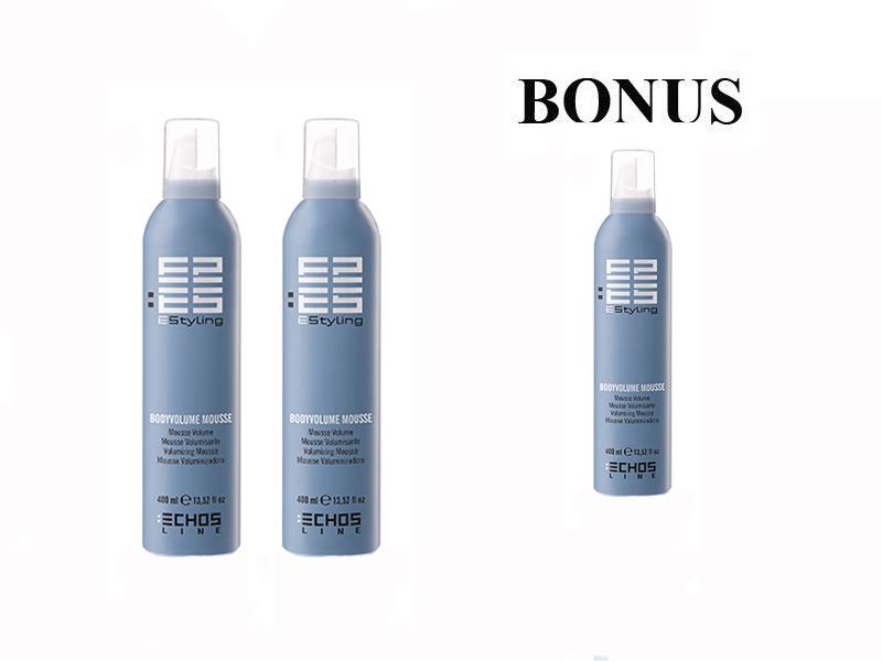 AKCE: 2 + 1 Echosline Body Volume Mousse - objemová pěna, 400 ml