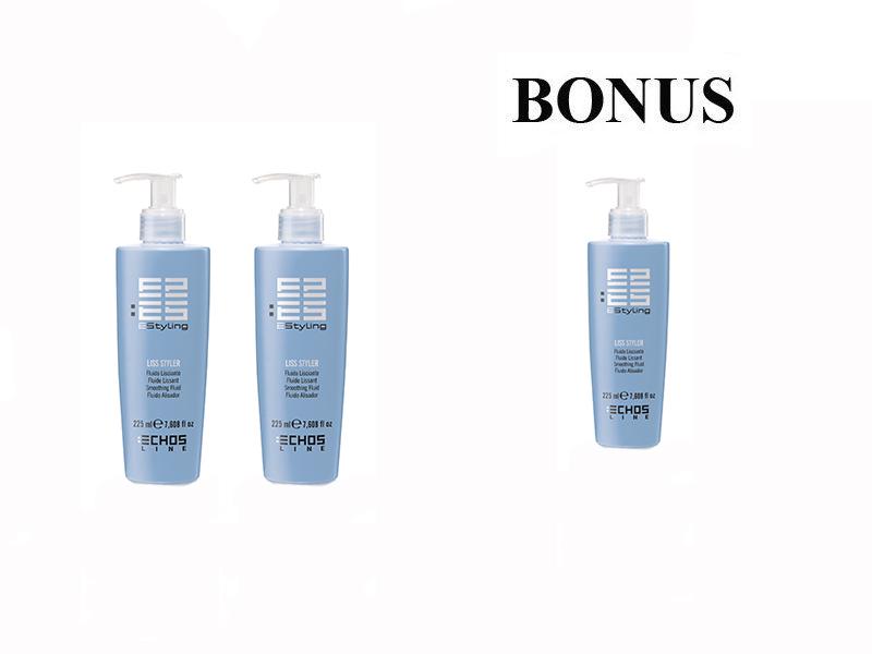 AKCIA: 2 + 1 Echosline Liss Styler - ulhadzujúci fluid, 225 ml