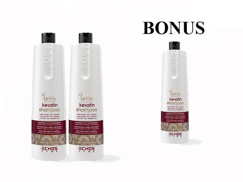 AKCIA: 2 + 1 Echosline Seliár Keratin šampón, 1000 ml