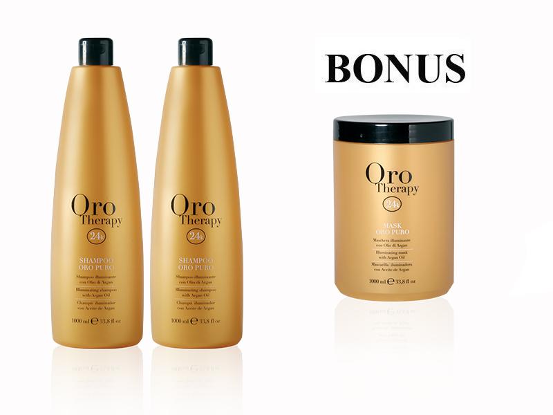 AKCIA: 2x Fanola Oro Therapy šampón, 1000 ml + Oro Therapy maska, 1000 ml