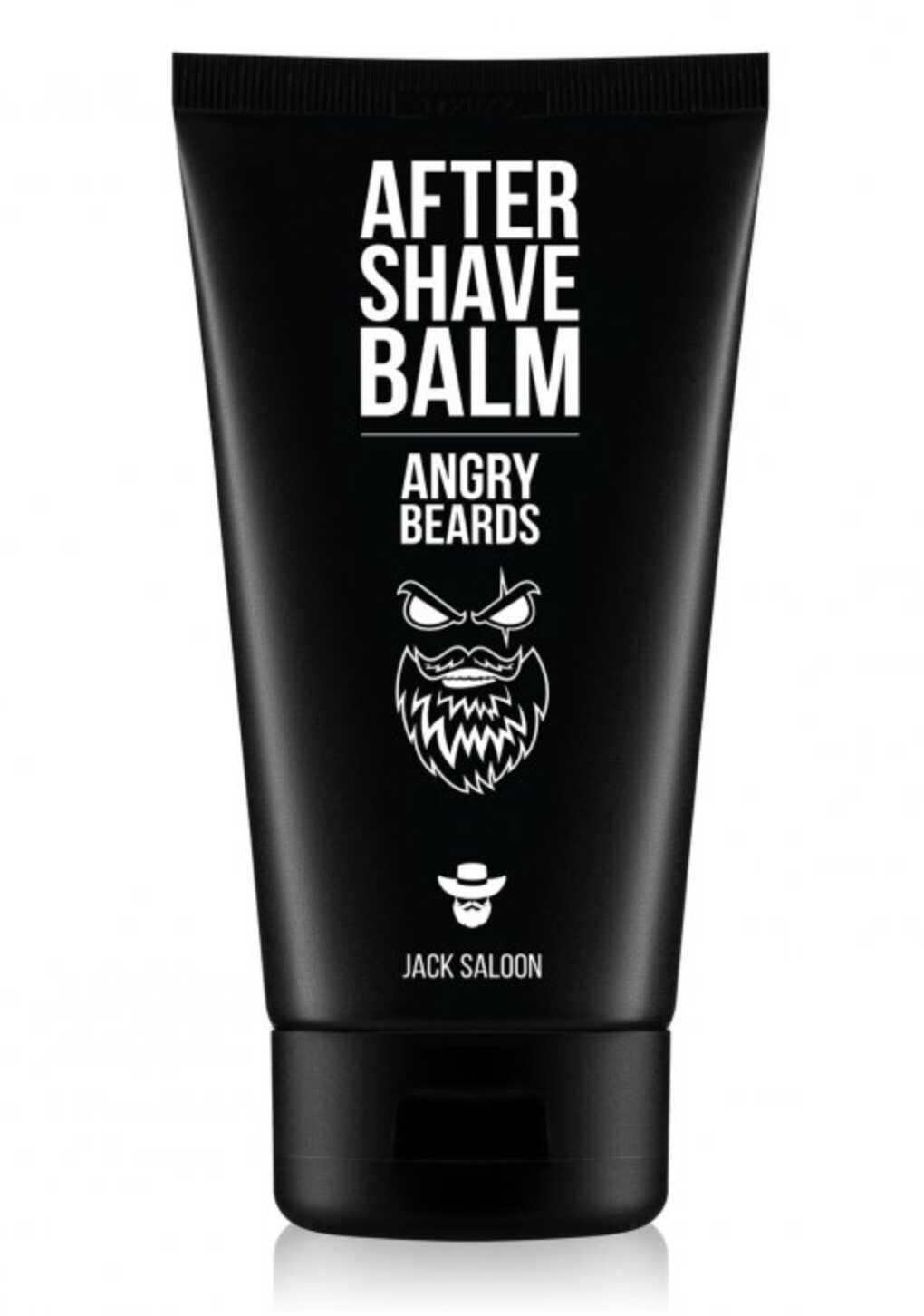Angry Beards After Shave Balm Jack Saloon - balzám po holení s vôňou Jack Saloon, 150 ml