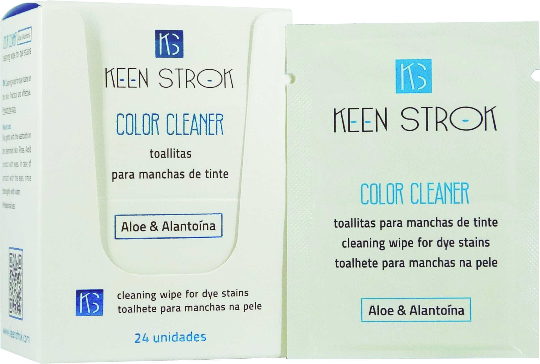 Keen Strok Color Cleaner Wipes - čistiace obrúsky na pokožku po farbení, 24 ks / bal