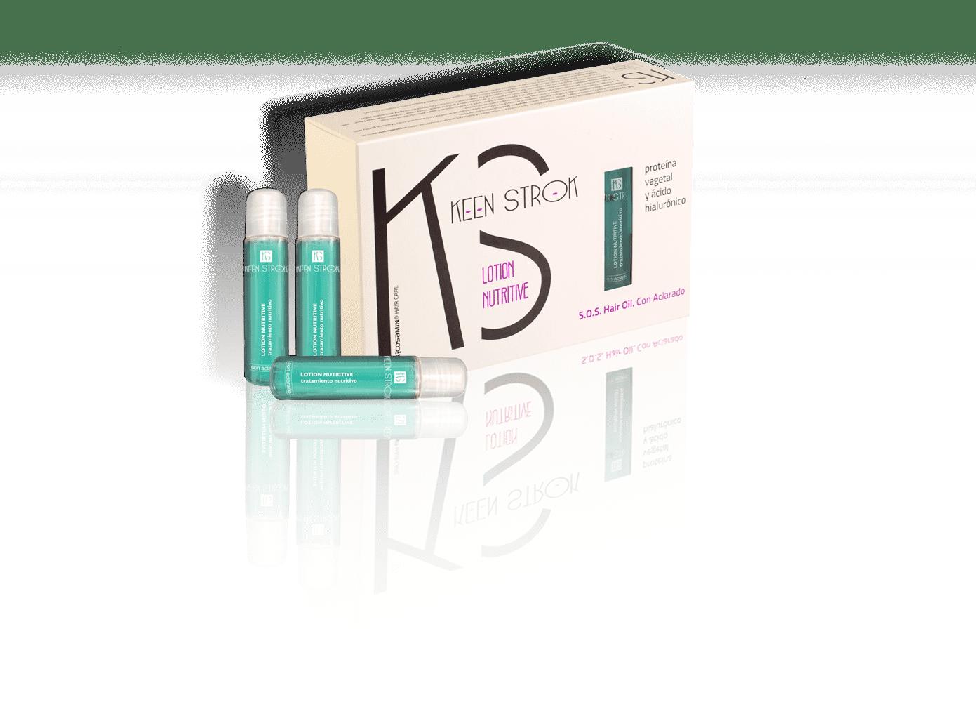 Keen Strok Nutritive Lotion S.O.S Hair Oil - regeneračné, obnovujúce ampulky na vlasy, 12 ks / bal