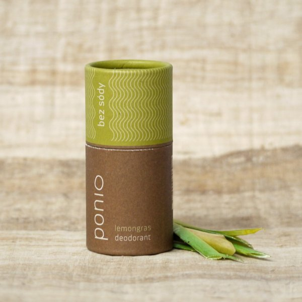 Ponio přírodní deodorant - sodafree, 60 g - lemongrasu