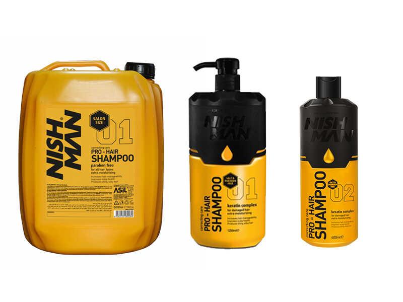 Nishman Hair Shampoo - keratinový šampon pro poškozené vlasy