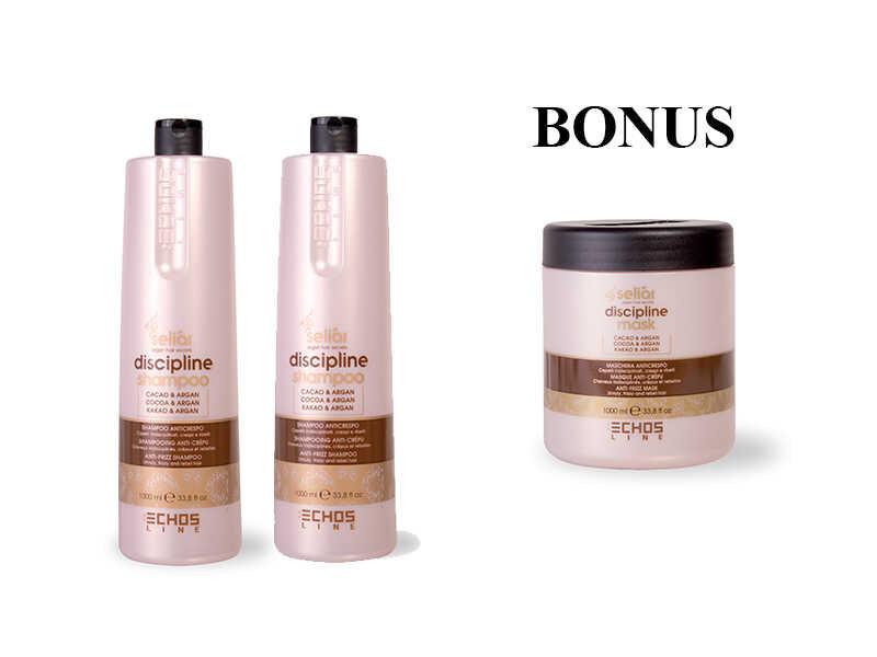 AKCIA: 2 x Echosline Seliár discipline shampoo - šampón pre disciplínu vlasov, 1000 ml + maska, 1000 ml