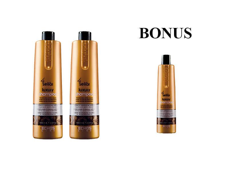 AKCIA: 2x Echosline Seliár Luxury Shampoo - šampón pre intenzívnu hydratáciu, 1000 ml + šampón, 350 ml