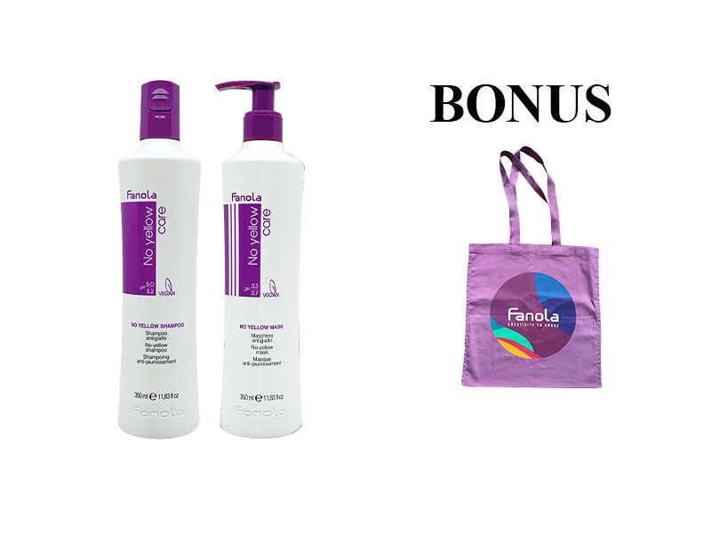 AKCIA: Fanola No Yellow šampón a maska pre odfarbované vlasy, 350 ml + taška Fanola