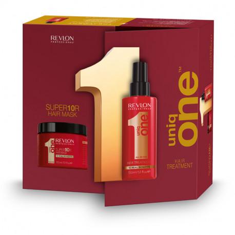 Balíček: UNIQ ONE Care - regenerační kúra pro všechny typy vlasů, 150 ml + maska na vlasy, 300 ml