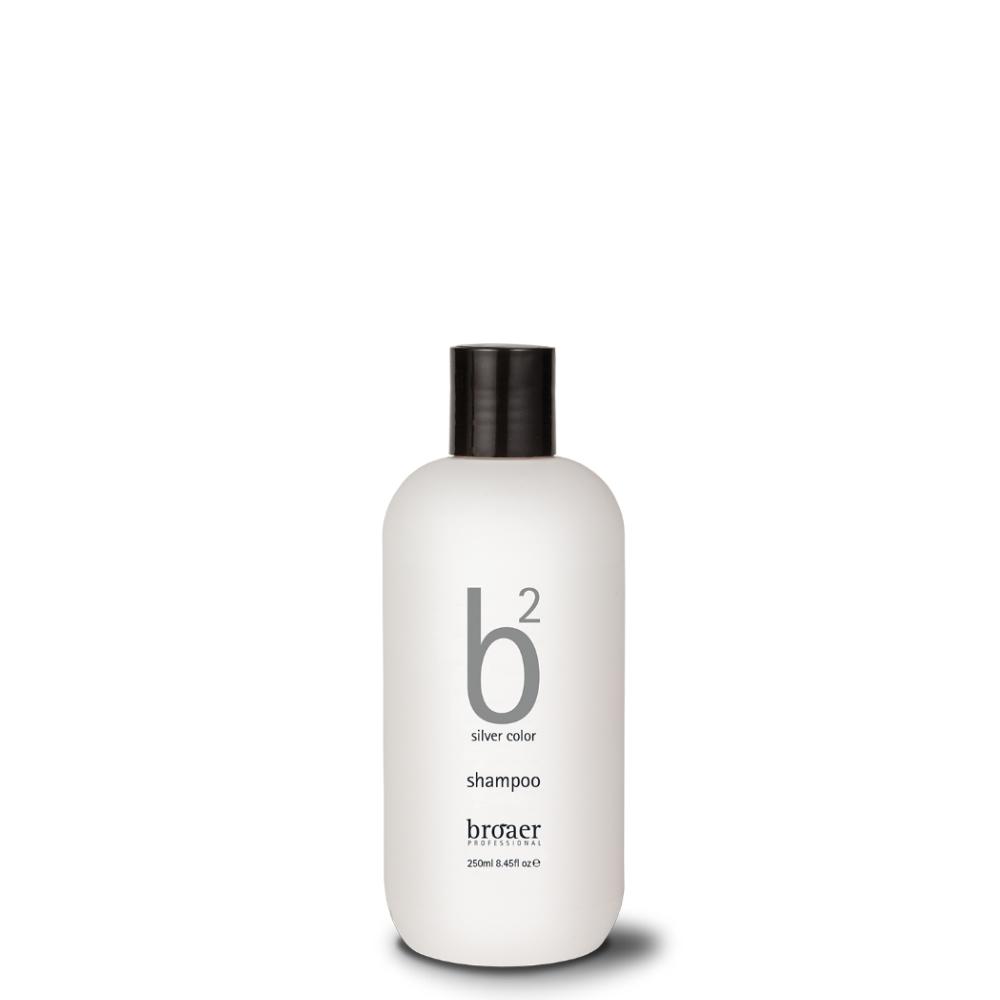 Broaer b2 silver color - šampon na šedivé a melírované vlasy 250 ml