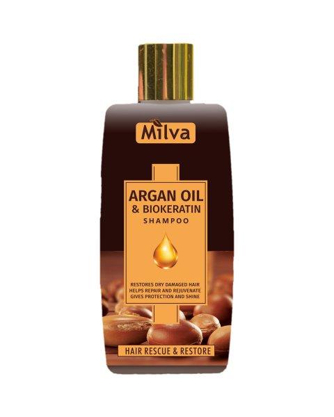 (EXP: 09/2021) Milva Argan Oil and Biokeratin Shampoo - šampón s argánovým olejom a biokeratínom, 200ml