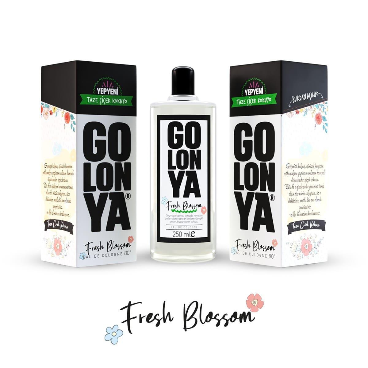 GOLONYA Fresh Blossom - kolínska voda s kvetinovou vôňou