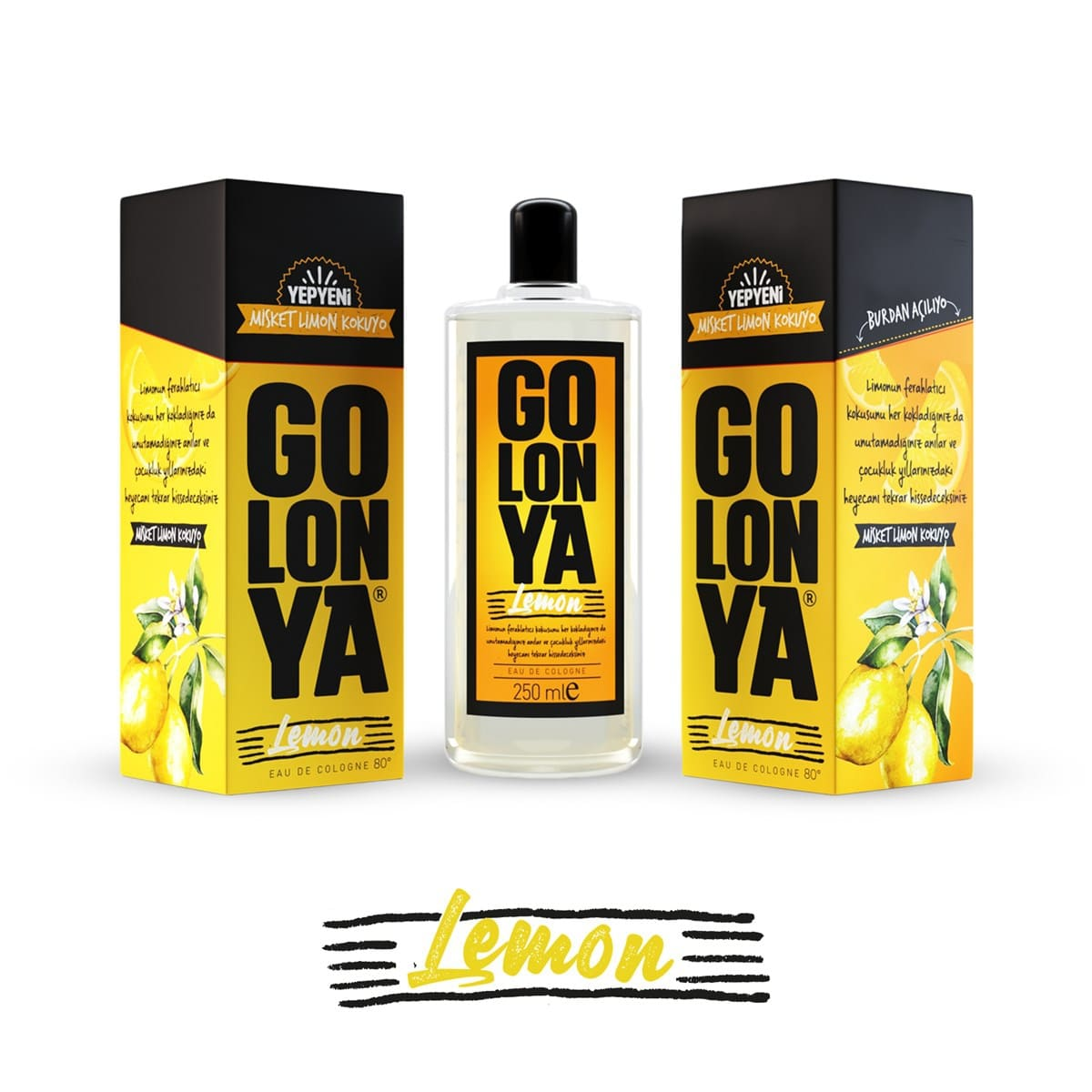 GOLONYA Lemon - kolínska voda s vôňou citrónu