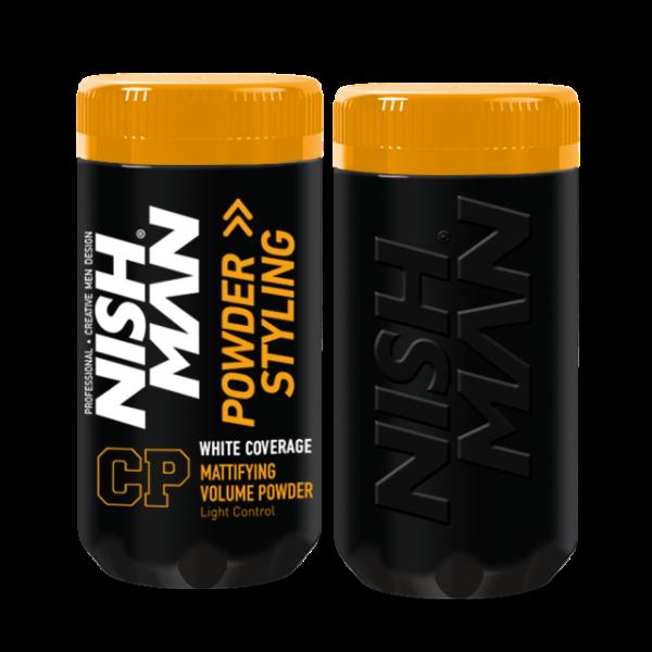 Nishman Hair Styling Powder White Coverage CP1 - stylingový pudr s krycí schopností, 20 g